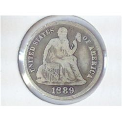 1889-S SEATED LIBERTY DIME (FINE)