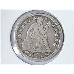 1853 SEATED LIBERTY DIME (FINE)