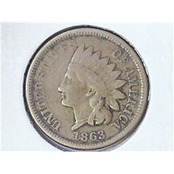 1863 INDIAN HEAD CENT (FINE)
