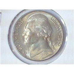 1950-D JEFFERSON NICKEL (KEY DATE) (UNC)