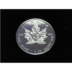 2007 CANADA SILVER $5 MAPLE LEAF (PF LIKE)