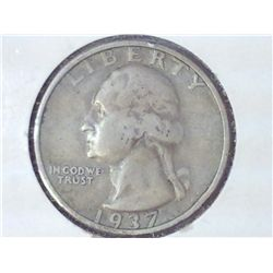 1937-S WASHINGTON SILVER QUARTER