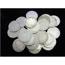 "30 ASSORTED LIBERTY ""V"" NICKELS"