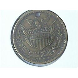 "CIVIL WAR TOKEN ""ARMY AND NAVY"" (HOLED)"