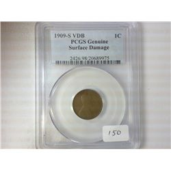 1909-S VDB LINCOLN CENT PCGS GENUINE
