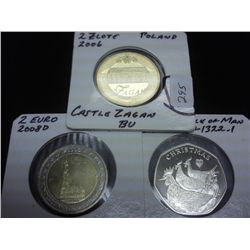 2006 POLAND 2 ZLOTE (UNC), 2008-D GERMANY 2 EURO