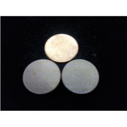 3 LINCOLN CENT BLANK PLANCHETS
