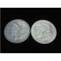 2-1921-D MORGAN SILVER DOLLARS
