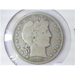 1905-O BARBER HALF DOLLAR (VERY GOOD)
