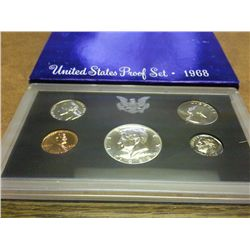 1968 US PROOF SET (WITH BOX) 40% KENNEDY HALF