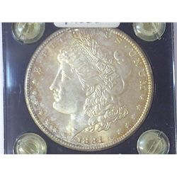 1881-S MORGAN SILVER DOLLAR MS65