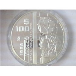 1985 MEXICO 100 PESO SILVER PROOF .9702 OZ. ASW