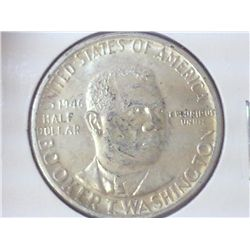 1946 BOOKER T. WASHINGTON COMMEMORATIVE HALF (UNC)