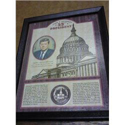 1976-D KENNEDY HALF DOLLAR FRAMED (AS SHOWN)