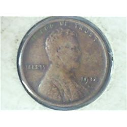 1914-D LINCOLN CENT (KEY DATE) (FINE+)