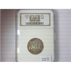 2000-S VIRGINIA QUARTER NGC PF69 W ULTRA CAMEO