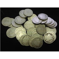 "40 ASSORTED LIBERTY ""V"" NICKELS"
