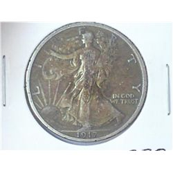 1917-S WALKING LIBERTY HALF DOLLAR REV. MINT MARK