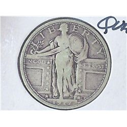 1917 TYPE I STANDING LIBERTY QUARTER (VERY GOOD+)