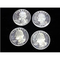 1976-S, 85-S, 90-S & 91-S WASHINGTON QUARTERS PF