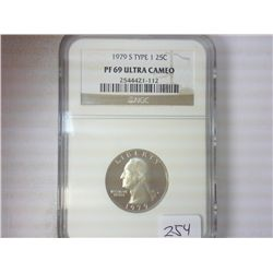 1979-S TYPE I WASHINGTON QUARTER NGC PF69 ULTRACAM