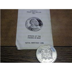 1971 JAMAICA PROOF DOLLAR MINTAGE OF 1586