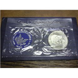 1972-S IKE SILVER DOLLAR UNC (BLUE PACK)
