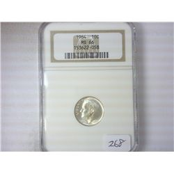 1964 SILVER ROOSEVELT DIME NGC MS66