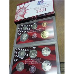 2001 US SILVER PROOF SET (WITH BOX) (BETTER DATE)