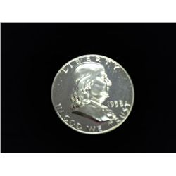 1958 FRANKLIN HALF DOLLAR DEEP CAMEO PROOF