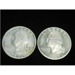 1993-S & 97-S WASHINGTON SILVER QUARTERS PROOF