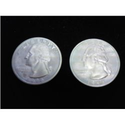 1996-S & 98-S WASHINGTON SILVER QUARTERS PF