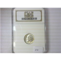 1963-D SILVER ROOSEVELT DIME NGC MS66