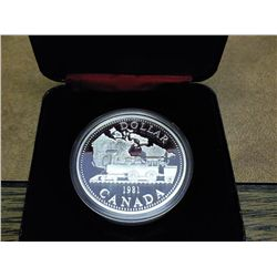 1981 CANADA LOCOMOTIVE $ (PROOF) .3750 OZ. ASW