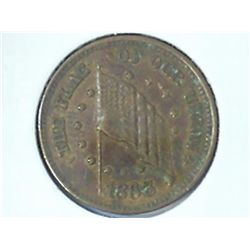 1863 CIVIL WAR TOKEN (UNC)
