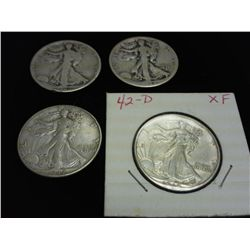 1920-S,33-S,42 & 42-D WALKING LIBERTY HALF DOLLARS