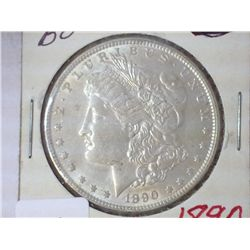 1890 MORGAN SILVER DOLLAR UNC