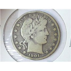 1901 BARBER HALF DOLLAR (VERY GOOD)