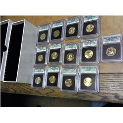 SACAGAWEA DOLLAR SIGNATURE SERIES SET 13 SLABS