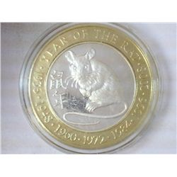 YEAR OF THE RAT CASINO $10 SILVER TOKEN (UNC)