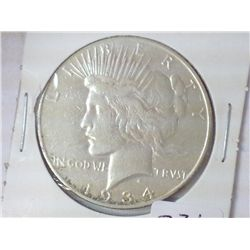 1934-S PEACE SILVER DOLLAR (KEY DATE)