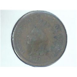 1873 INDIAN HEAD CENT (SEMI-KEY)
