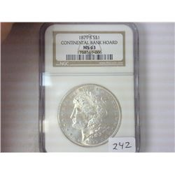 1879-S MORGAN SILVER DOLLAR NGC MS63