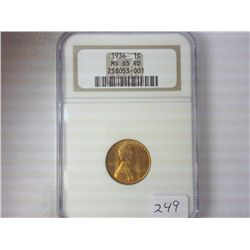 1936 LINCOLN CENT NGC MS65 RD
