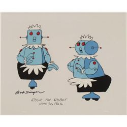 Rosie Robot Jetsons Signed Orig Model Cel Animation Art
