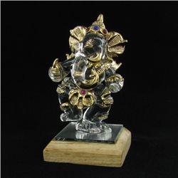 Hand Formed Glass Gilded Ganesh (CLB-488)