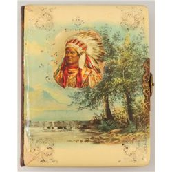 Indian Chief Celluloid Cover Photo Album