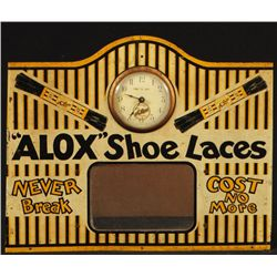 Alox Shoe Laces Advertising Clock Display