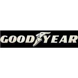 Goodyear Dealer Sign Uvalde Texas Porcelain Letter