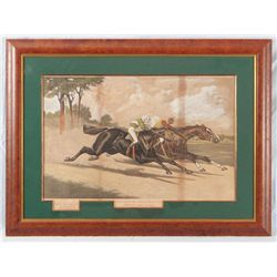 "Henry Stull ""Great $10,000 Match Race"" Lithograph"